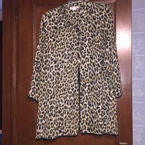 Vintage Leopard print long tunic